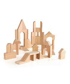 6dd7bf6c2906 Guidecraft 76-Piece Hardwood Deluxe Block Set. Stacking BlocksBlock  PlayCastlesTowersBridgesBuilding ...