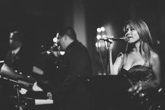 Live band Opera 3000 performs at a wedding reception at The Palace at Somerset Park, NJ. Captured by awesome NJ wedding photographer Ben Lau...