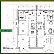 Pelan autocad rumah 2 tingkat My House Plans, Autocad, Floor Plans, Diagram, How To Plan, Floor Plan Drawing, House Floor Plans