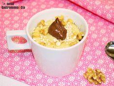 Mug cake de avena y Nutella en taza