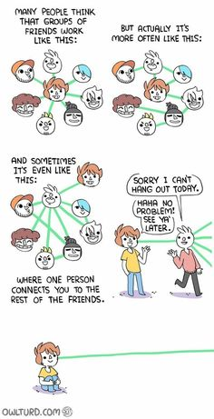 Where do you fit into your friend pool? How do you fit your friends in? – comic by Owlturd Comix Where do you fit into your friend pool? How do you fit your friends in? – comic by Owlturd Comix Funny Cute, Funny Shit, The Funny, Funny Jokes, Hilarious, Funny Stuff, Shen Comics, Owlturd Comix, 4 Panel Life