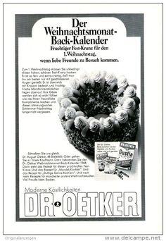Original-Werbung/Anzeige 1968 - 1/1 SEITE - DR. OETKER - ca. 160 x 230 mm