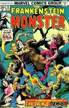 FRANKENSTEIN MONSTER 18 VF- Old Marvel Horror Comic book 1975 __ CCVII __