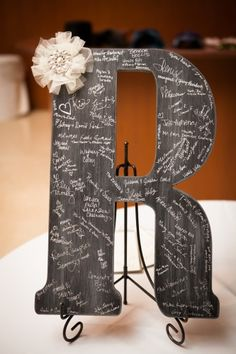 Letter Guestbook. Signed R. Reception Part I - Lip Gloss & Lunges