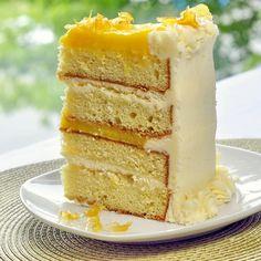 The Ultimate Lemon Cake- a lemon lovers dream! - - The Ultimate Lemon Cake - with 5 different lemon elements, this cake makes the ideal celebration dessert for the lemon lover in your life. Lemon Desserts, Lemon Recipes, Just Desserts, Sweet Recipes, Cake Recipes, Lemon Cakes, Coconut Cakes, Cupcakes, Cupcake Cakes