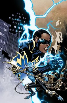 DC UNIVERSE PRESENTS VOL. 3: BLACK LIGHTNING AND BLUE DEVIL TP - Written by MARC ANDREYKO and JOE KEATINGE / Art by ROBSON ROCHA, EDUARDO PANSICA, FEDERICO DALLOCCHIO, RICKEN and others / Cover by RYAN SOOK | Comic Book Resources