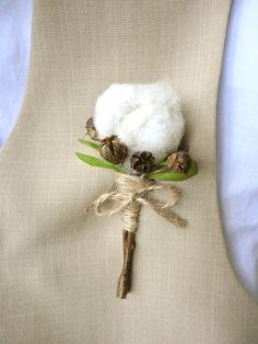 Wedding Cotton Boutonnieres