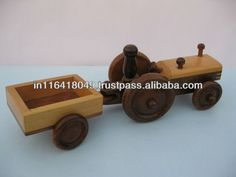Tractor With Trailor - Buy Handcrafted Toy,wooden Toys Wholesale,wooden Toy…