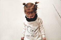 "Sweatshirt Grecha ""Bird and sunflower seeds"" for kids."