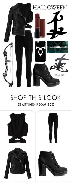 """""""Shadowhunter's costume for Halloween party"""" by cocolatten ❤ liked on Polyvore featuring Balmain, Miss Selfridge, H&M, halloweencostume and DIYHalloween"""
