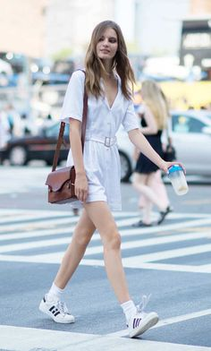 High socks worn with Adidas, a combo only a model with long legs can pull off. Photo: Youngjun Koo/I'M KOO