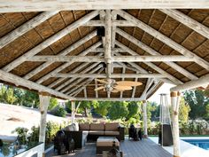 Thatched white wash finish - Cape Reed