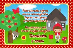 Convite digital personalizado Chapeuzinho Vermelho 004