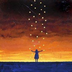 falling stars.