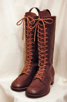 DEAD STOCK 30'S~40'S OUTDOOR SPORTS LACE UP LONG BOOTS