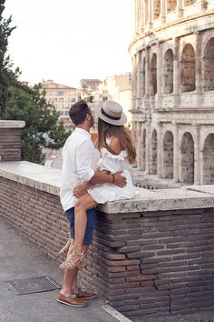 Rome Honeymoon lovers shoot by Lost In Love Photography. Colosseum engagement shoot Italy