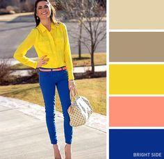 Пролетта е на прага ни. Време е да извадим цветните дрехи на преден план. Именно поради тази причина решихме да ви представим 12 доста подходящи цветови комбинации специално за онези от вас, които смятат, че зимните краски са прекалено скучни.