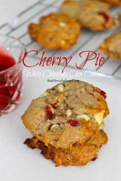 Cherry Pie White Chocolate Chip Cookie | thebittersideofsweet.com #cherry #greekyogurt #cookies