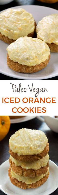These soft and chewy paleo orange cookies are vegan, grain-free, gluten-free, and dairy-free and have a delicious orange icing (that doesn't melt at room temperature!).