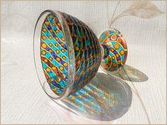 Glass DESSERT VASE gift pedestal bowl candle by RichanaDragon  #etsy #etsycom || #vitrage #stainedglass #glassware || #homedecor #decor || #gift #giftidea