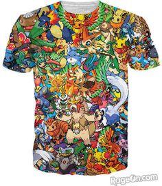 12feb6e1 Newest Women Men Print Character Tee Pokemon Fusion T-Shirt Cartoon Pokemon  Monster Pokedex Crash T Shirt Pikachu Shirts