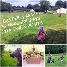 Entertain the family in the holidays with a 3 night stay for 4 just £270 + dogs can stay for free! We have loads of space for the kids to run around while you sit back and relax as well as lots of local days out & activities. Check in Monday 12pm stay until Thursday 12pm
