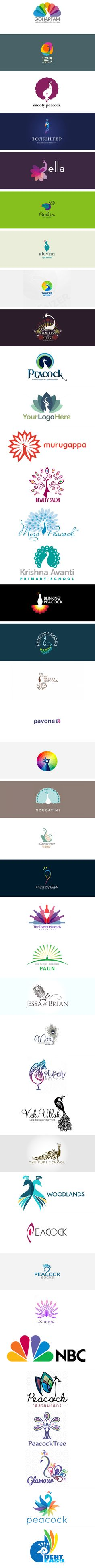40 Creative and Beautiful Peacock logo designs for your inspiration , from webneel.com