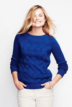 Women's Drifter Texture Pullover Sweater from Lands' End