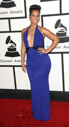 "Alicia Keys at the 2014 Grammy Awards - With looks like this many will forgive her for fudging Beatles legend ""John Lennon's"" name - the others may noticed. Rihanna, Beyonce, Claire Danes, Michelle Trachtenberg, Nicole Richie, Alicia Keys, Kate Winslet, Christina Aguilera, Sandra Bullock"