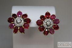 Ruby Chandelier Earrings Red Ruby Earrings Bridal Ruby
