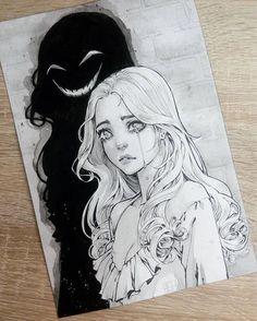 Trauriges Mädchen ᵁᴺᴬᴾᴼᴸᴼᴳᴱᵀᴵᶜ ᴰᴱᴱ - - Best Of Top List 2019 Sad Drawings, Drawing Sketches, People Drawings, Drawing Tips, Dark Art Drawings, Sketches Of People, Drawings Of Girls, Pencil Drawings Tumblr, Best Anime Drawings