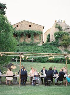 Organic in Tuscany: Lyndsey and Ryan`s Villa Wedding