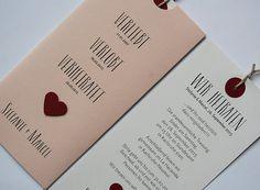 Hochzeitskarte Verliebt.Verlobt.Verheiratet. in rosa