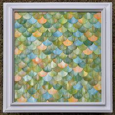 """DIY: Iridescent Watercolor """"Fish Scale"""" Artwork"""