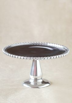 love this silver beaded cake pedestal