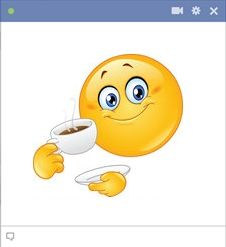 Facebook coffee emoticon for chat and messages. #Coffee #Facebook