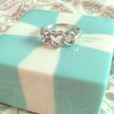 Kay Jewelers Sterling Silver 3 Heart Promise Ring Dainty 3 heart promise ring in sterling silver! Worn only a few times, so VERY minimal wear on bottom of band (hardly noticeable); near perfect condition!! Kay Jewelers Jewelry Rings