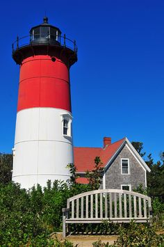 Nauset Lighthouse- Eastham, Cape Cod. Open houses in the summer on Sundays  Wednesdays - climb to the top and see the views of the Ocean!