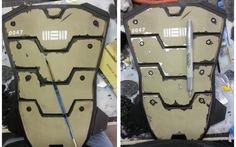 Adding weathering effect to foam armor!