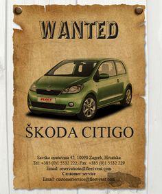 Skoda CitiGo Car Advertising, Dubrovnik, Car Rental, Croatia, Cars, Bicycles, Clever, Motorcycles, Passion