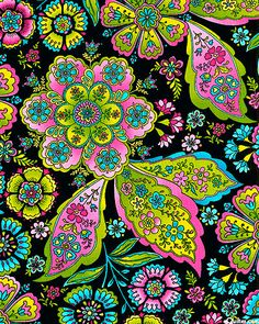 Fiona Paislye Garden Flourish - black