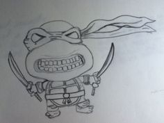 Friends drawing of a ninja turtle