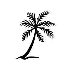 einfaches Palmen Motiv als Plotterdatei zum Plotten aus beliebigen Materialien (Fotokarton, Vinyl-, Flexfolie...) zum Gestalten eigener Karten oder zum Dekorieren deines zu Hauses.