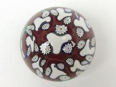 Murano murrine & millefiori vintage glass paperweight