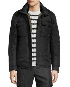 Daumier Nylon Field Jacket, Black by Moncler at Bergdorf Goodman.