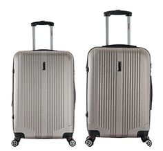 InUSA San Francisco ML 2piece Lightweight Hardside Spinner Luggage Set  Champagne *** See this great product.