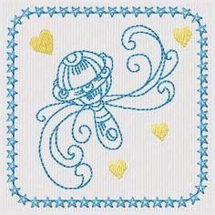 New Baby - 4x4 hoop - Free machine embroidery designs - Kreative Kiwi