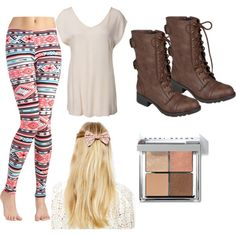 I have some leggings like that and those shoes. Maybe I'll wear.this on the first day of school