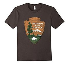 Get this limited edition NPS t-shirt. Great for the whole family. Boys, Girls, Moms, Days, Young and Old alike. Perfect t-shirt for summer campers camping, hikers hiking, park rangers, boating relaxing and more! High quality t-shirt and print. Make sure to wear it at all the great sites: United States USA National Parks Yellowstone Grand Canyon Carlsbad Caverns Crater Lake Death Valley Mount Rainier Redwoods Mountains Yosemite.