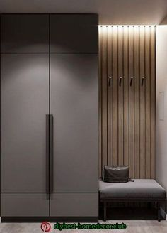 Possible combination of colours for concealed bomb shelter wall Hall Wardrobe, Wardrobe Door Designs, Wardrobe Design Bedroom, Wardrobe Ideas, Design Hall, Flur Design, Home Room Design, Interior Design Living Room, House Design
